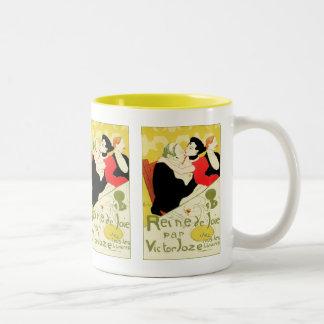 Art Nouveau: Toulouse Lautrec - Reine de Joie Two-Tone Mug