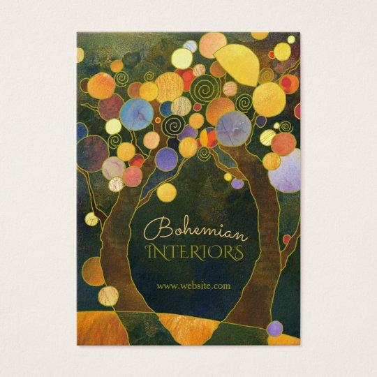 Art Nouveau Trees Interior Design Business Card