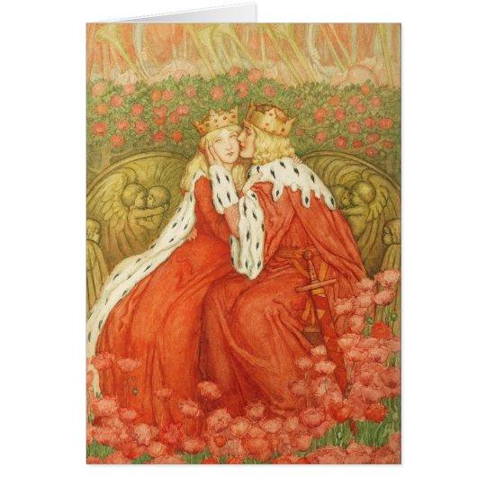 Art Nouveau Valentine by Amelia Bowerley Card