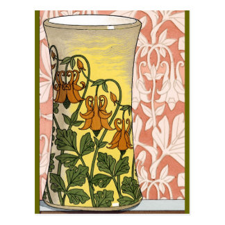 Art Nouveau Vase of Flowers Postcard