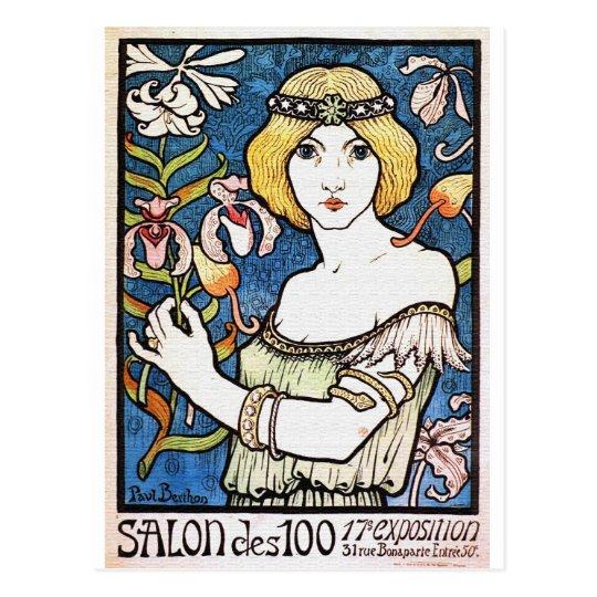 Art Nouveau Vintage Beauty - Postcard