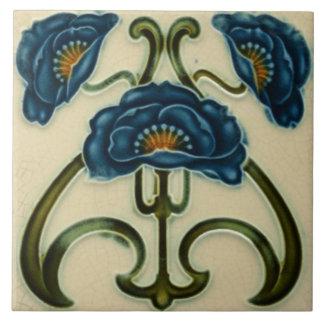 Art Nouveau Vintage Design Feature Tile