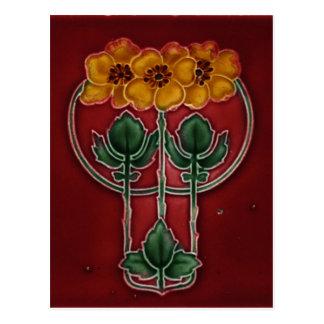 Art Nouveau Vintage Design Postcard