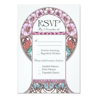 Art Nouveau Vintage RSVP Wedding Cards 9 Cm X 13 Cm Invitation Card