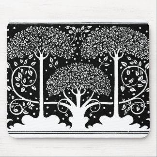 Art Nouveau Vintage Tree Pattern Mouse Pad