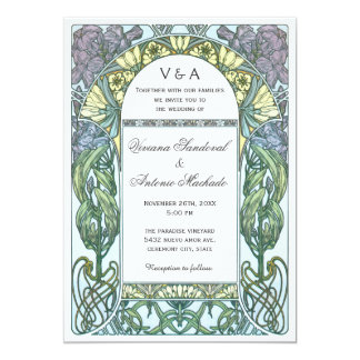 Art Nouveau Vintage Wedding Invitations VII