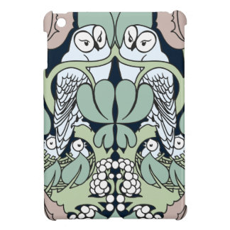 Art Nouveau Voysey Owls Nest Pattern iPad Mini Covers