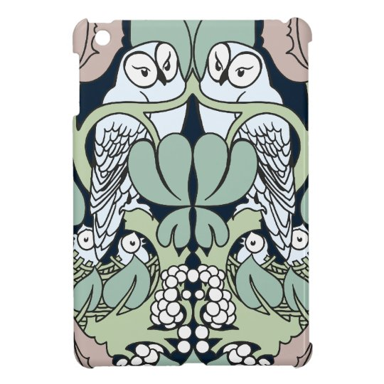 Art Nouveau Voysey Owls Nest Pattern iPad Mini