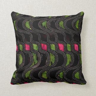 Art Nouveau Wave Pattern Pillow