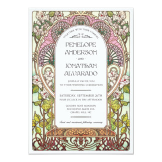 Art Nouveau Wedding Sample Card