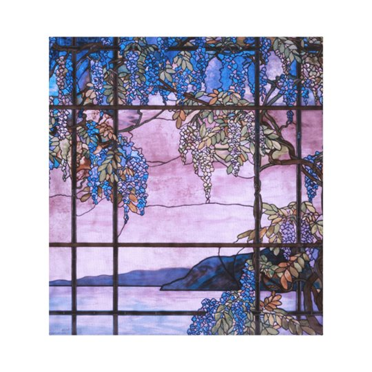 Art Nouveau Willow Tree Scenic Window Design Canvas