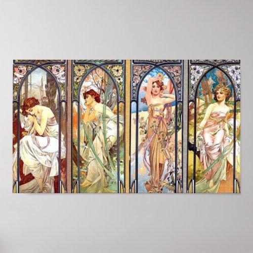 Art Nouveau Windows Poster