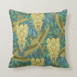 Art Nouveau Wisteria Design Pillow