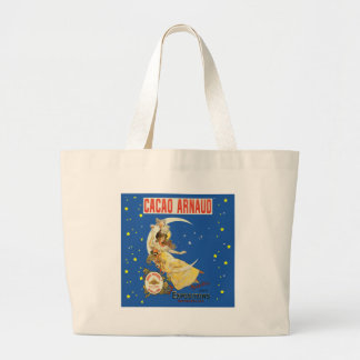 Art Nouveau Woman and Champagne Large Tote Bag