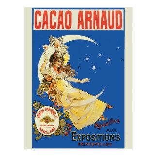 Art Nouveau Woman and Champagne Postcard
