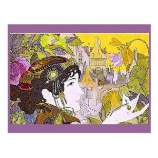 Art Nouveau Woman Postcard