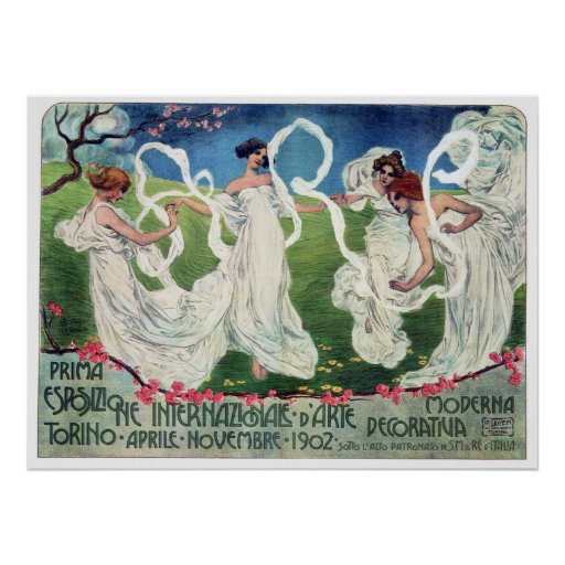 Art Nouveau World Arts Exposition Advertisement Poster