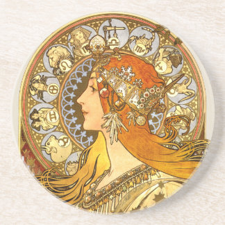 Art Nouveau Zodiac Coaster