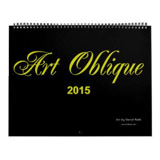 Art Oblique 2015 Calendar