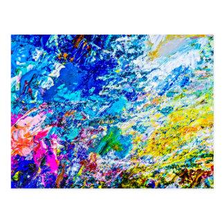 Art of color palette postcard