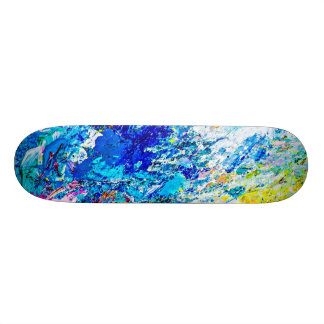 Art of color palette skate decks