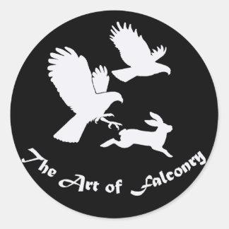 Art of Falconry - Harris Hawks Classic Round Sticker