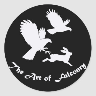 Art of Falconry - Harris Hawks Round Sticker