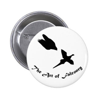 Art of Falconry- Peregrine Falcon 6 Cm Round Badge