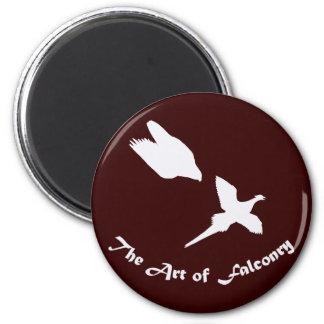 Art of Falconry- Peregrine Falcon 6 Cm Round Magnet