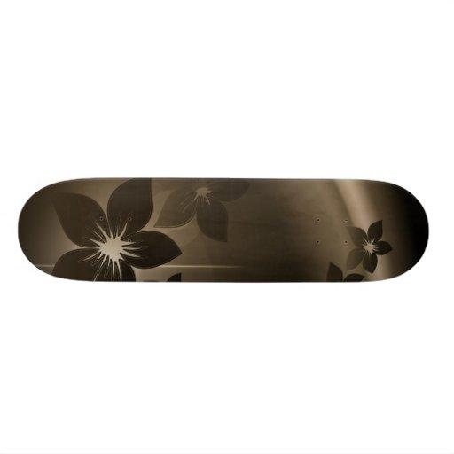 Art of Flowers Custom Skateboard