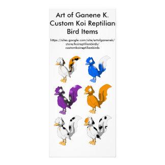 Art of Ganene K. Custom Koi Reptilian Birds Advert Custom Rack Card