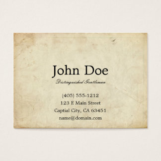 Art of Manliness Calling Card