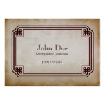 Art of Manliness Framed Calling Card Business Card Templates