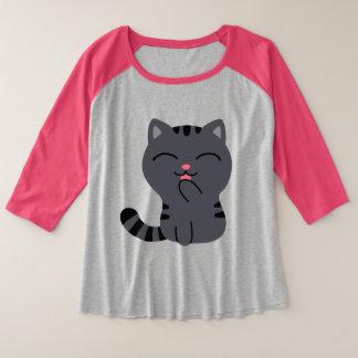 Art of Scratching Illustration Plus Size Raglan T-Shirt
