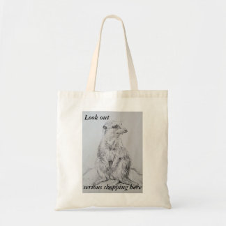Art of shopping meerkat everyday tote bag
