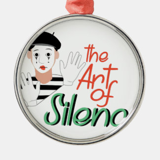 Art of Silence Silver-Colored Round Decoration