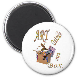 Art Outside the Box 6 Cm Round Magnet