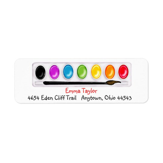 Art paint ing Return Address Labels