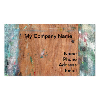 Art painter's easel with multiple colors pack of standard business cards