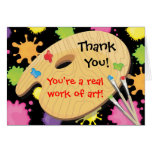 Art Painting Party Thank You Notes