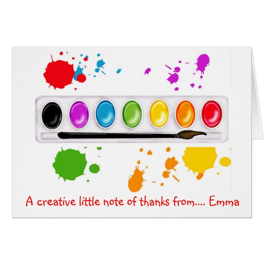 Art  painting Thank you Note cards