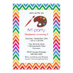 Art Party for Childs Birthday Party Invitation 13 Cm X 18 Cm Invitation Card