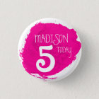 Art party paint dab pink name age button