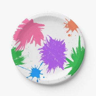 Art Party Paint Splatter's Paper Plate