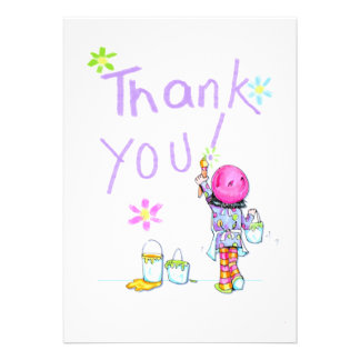 Art Party thank you note Personalized Announcement