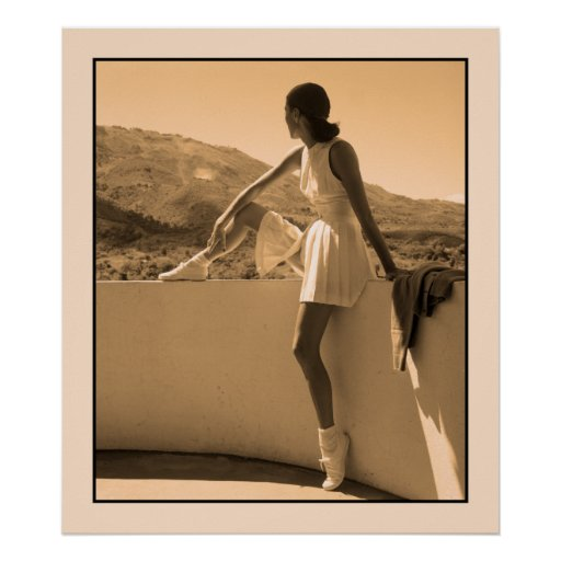 Art photo, woman in tennis outfit poster