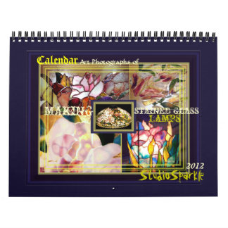 Art Photographs Stained Glass Lamps Calendar 2012
