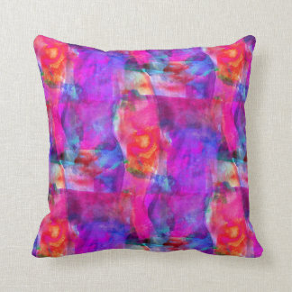 Art pink, blue, red texture background cushion