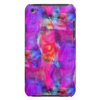 Art pink, blue, red texture background iPod touch cases