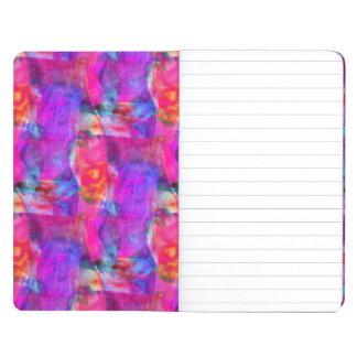 Art pink, blue, red texture background journal